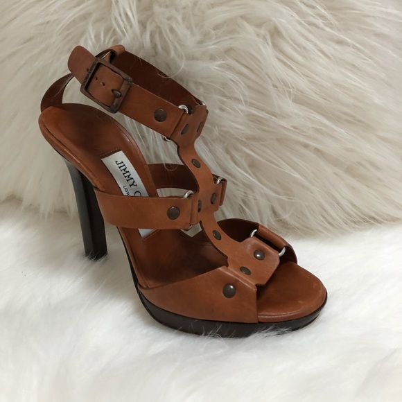 03b154c2bd18 Jimmy Choo Shoes - Jimmy Choo Brown Leather studded Sandals